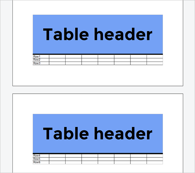 MailMerge: Table headers and repeating blocks