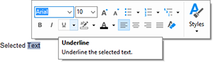 Sneak Peek: Add formatting using the Mini Toolbar