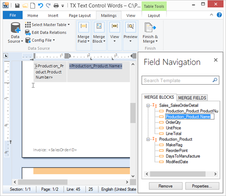Sneak Peek: Field Navigation Panel in TX Text Control Words