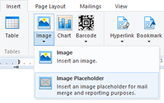 Image merging in Text Control reports