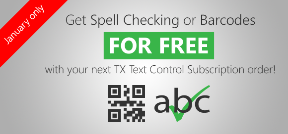 Get Spell Checking or Barcodes for free with your next order