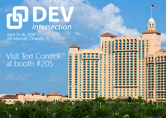 Text Control technology unveiling at DevIntersection 2014