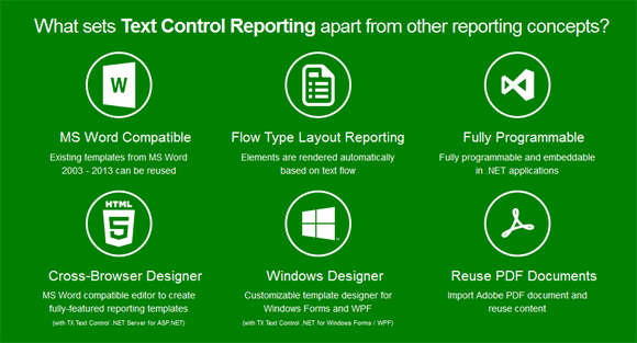 Text Control Reporting Framework: What sets it apart?