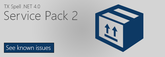 Service Pack 2 for TX Spell .NET 4.0 released