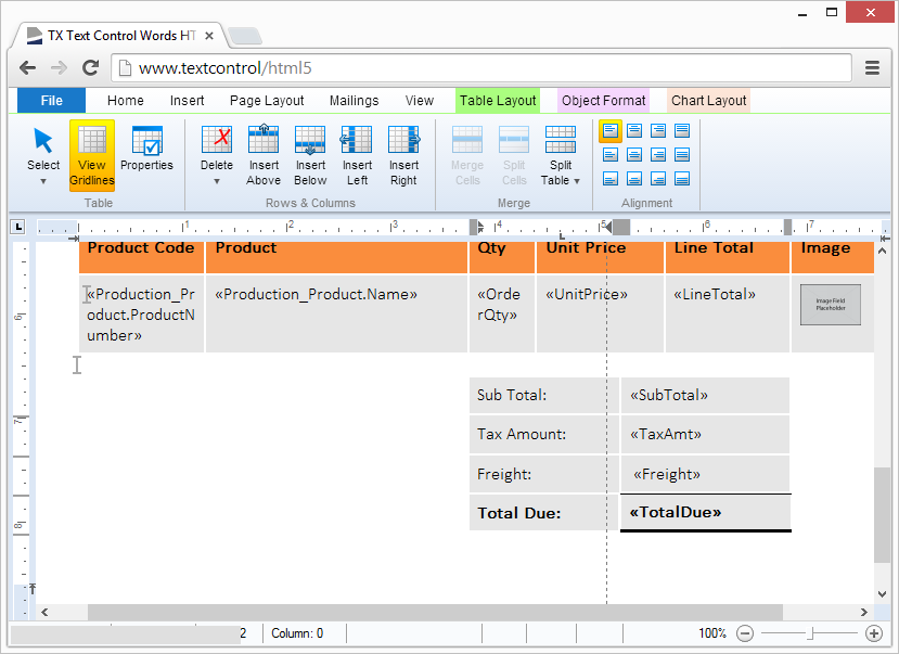 Preview screenshots: Full table support including nested tables and cell merging