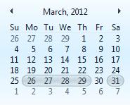 TX Text Control Conference Calendar