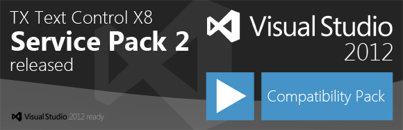 TX Text Control X8 SP2 - Visual Studio 2012 Compatibility Pack