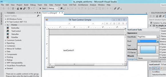 Visual Studio 11 and TX Text Control