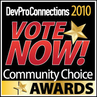 DevProConnections Community Choice Award 2010