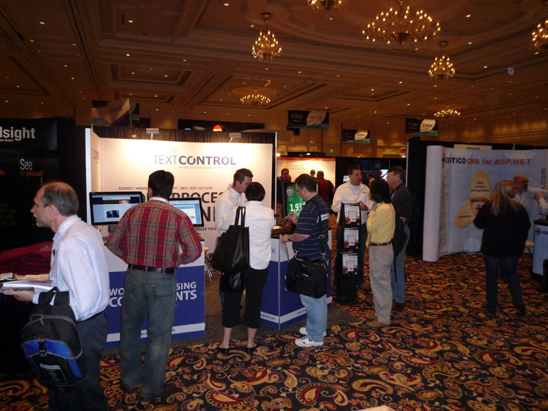 TX Text Control booth at Visual Studio 2010 Launch in Las Vegas