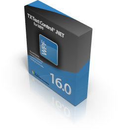 TX Text Control .NET for WPF Boxshot