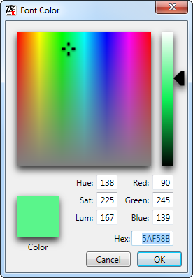 TX Text Control Color Picker