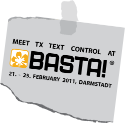 TX Text Control at BASTA! 2011