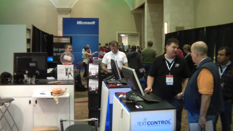 Text Control booth at DevConnections Spring 2011
