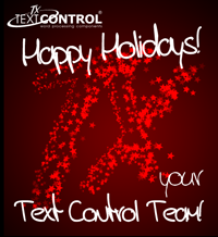Happy Holidays from TX Text Control