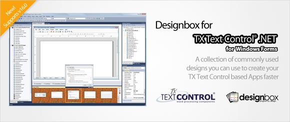 Screenshot Designbox TX Text Control