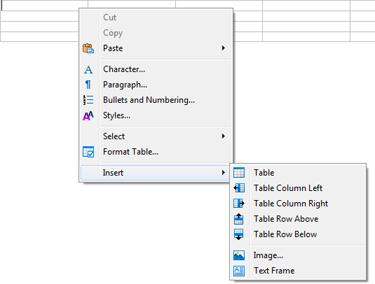 Context menus