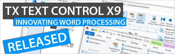 TX Text Control X9 - best-of-breed word processing components