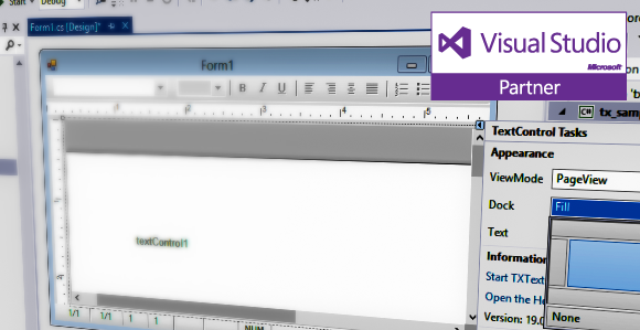 Text Control is Visual Studio 2013 Launch Partner