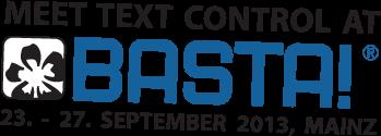 Text Control sponsors BASTA! 2013