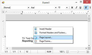 TX Text Control X9 in Visual Studio