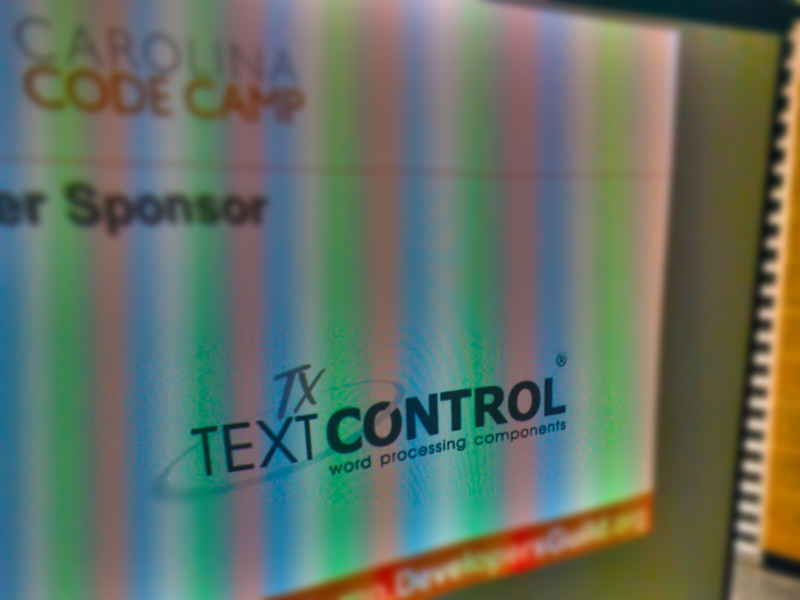 Text Control @ Carolina Code Camp 2013
