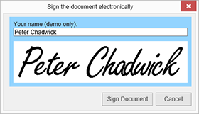 MVC: Added an electronic signature to documents in Web.TextControl