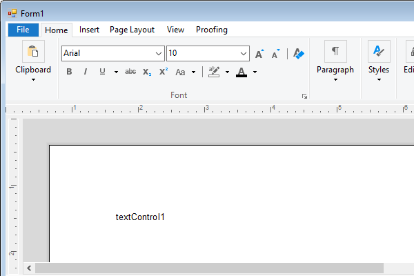 Creating A Windows Forms Ribbon Application
