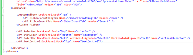 Creating a WPF Ribbon Application