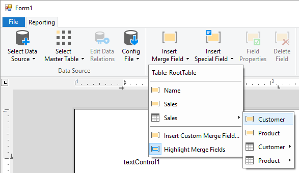 TX Text Control in Visual Studio
