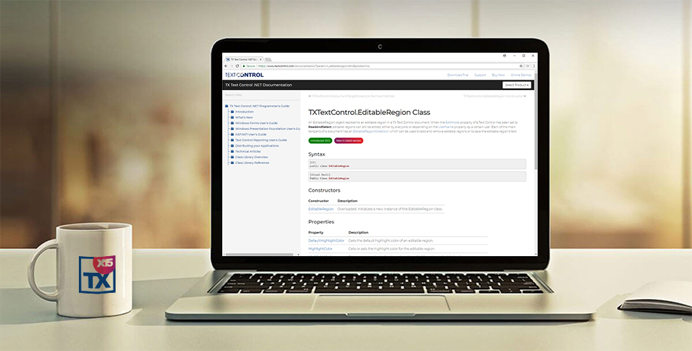 TX Text Control Online Documentation