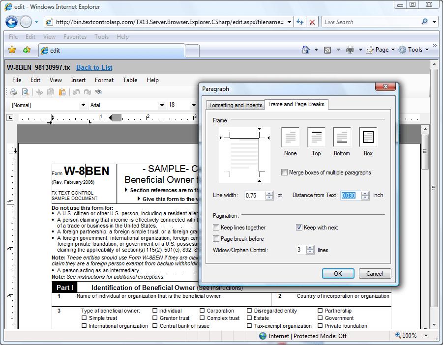 BrowserTextControl