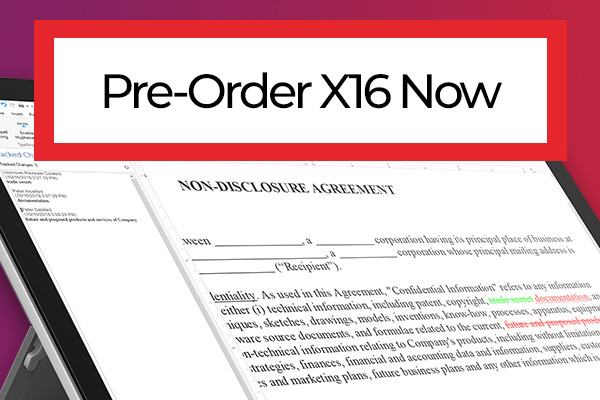 Pre-Order X16 Today and Get TX Barcode .NET Free