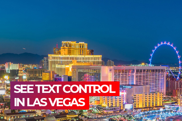 Test-Drive TX Text Control X16 at DevIntersection in Las Vegas