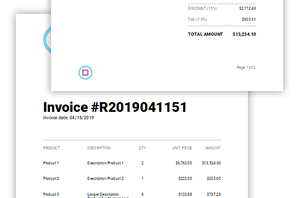 Creating Templates: Typical Invoice Elements