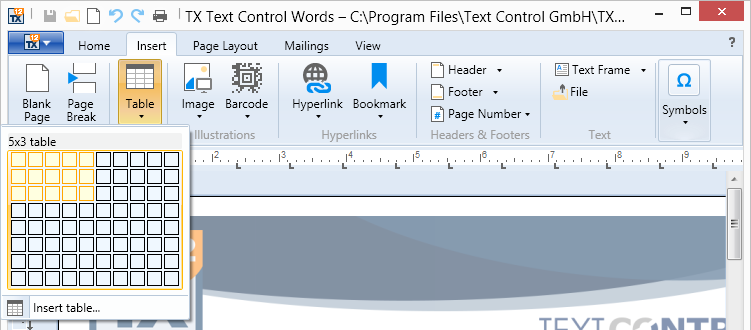 TX Text Control  NET for WPF :: What's New in X12