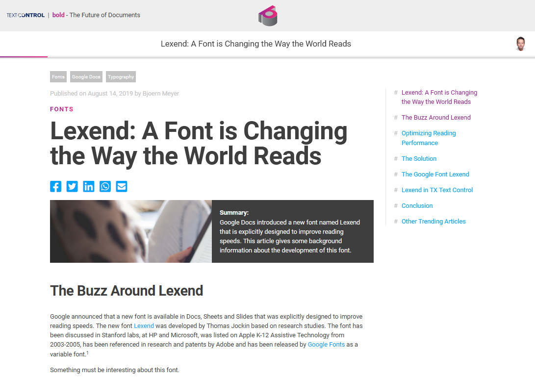 Lexend: A Font is Changing the Way the World Reads