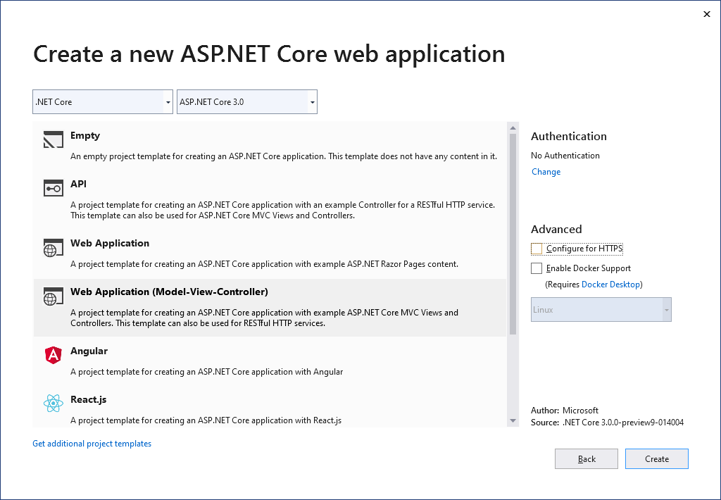Create a .NET Core 3 application