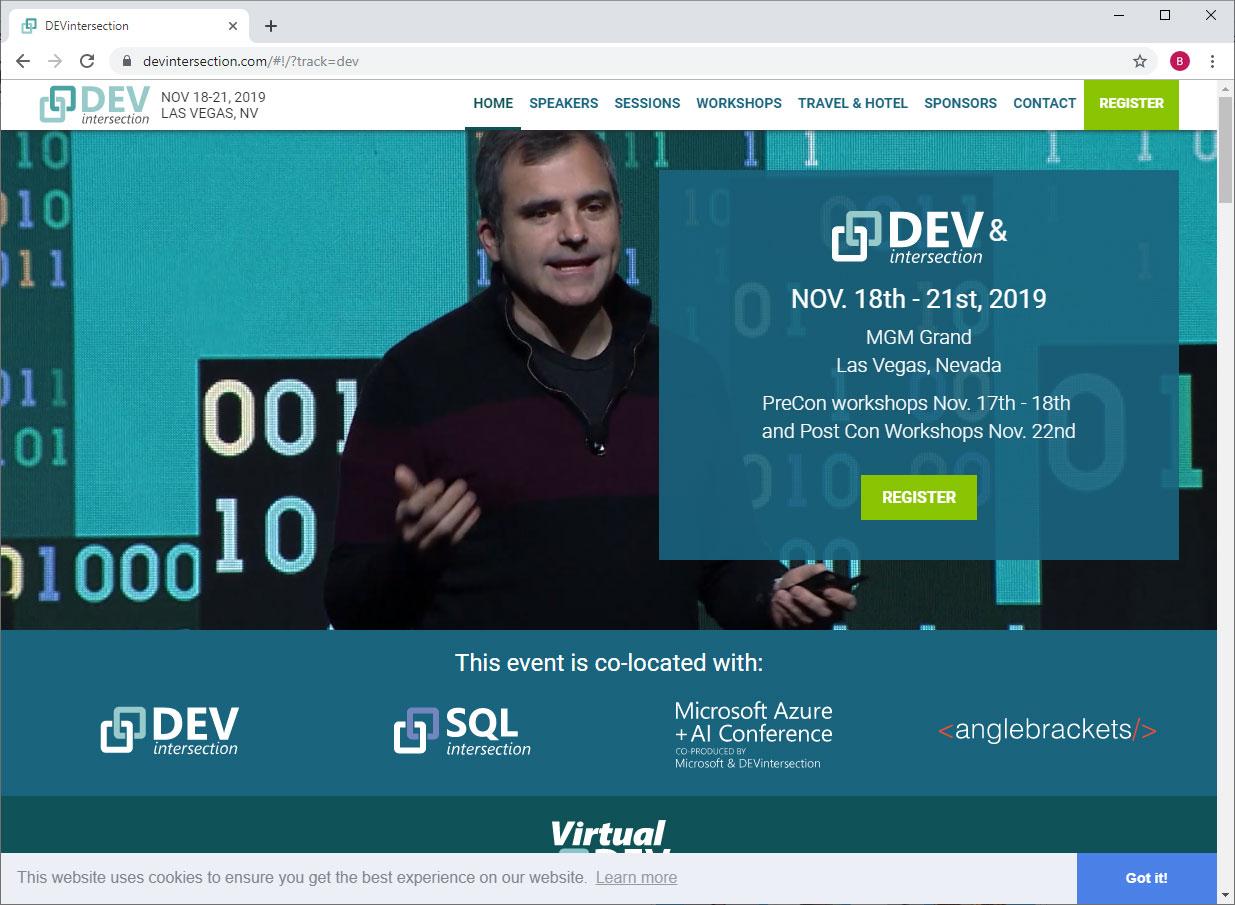 DEVintersection website