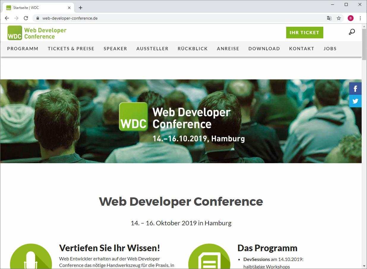 WDC website