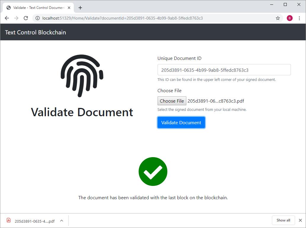 Blockchain sample