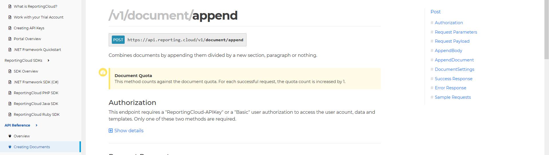 ReportingCloud Docs