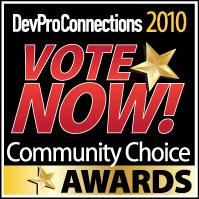 DevProConnections Community Choice Award 2010