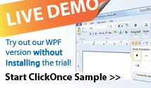 TX Text Control .NET for WPF Ribbon Demo