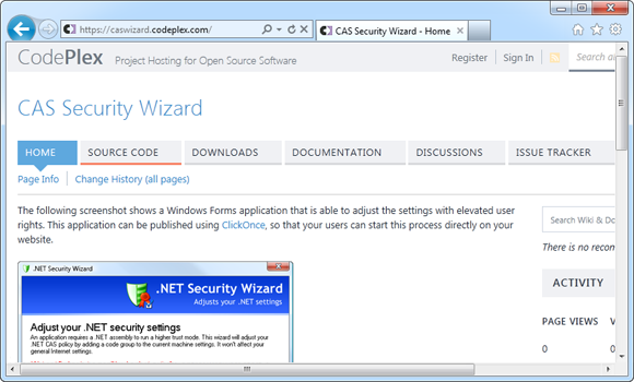 Security Wizard on CodePlex