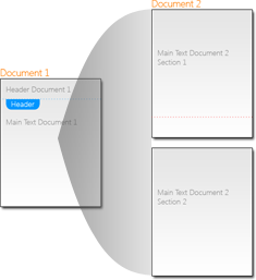 Section behaviour when merging documents