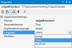 Adding spell checking and hyphenation to TX Text Control