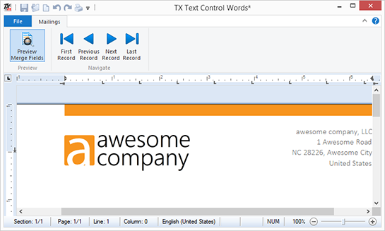 Using sub-templates in Text Control Reporting
