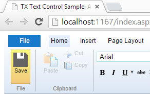 Web.TextControl: Adding buttons to the ribbon bar