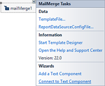 Adding TX Text Control and MailMerge to the Window